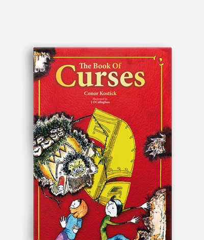 Book of Curses and Book of Wishes de Conor Kostick, Diseño de portadas y maquetación del libro