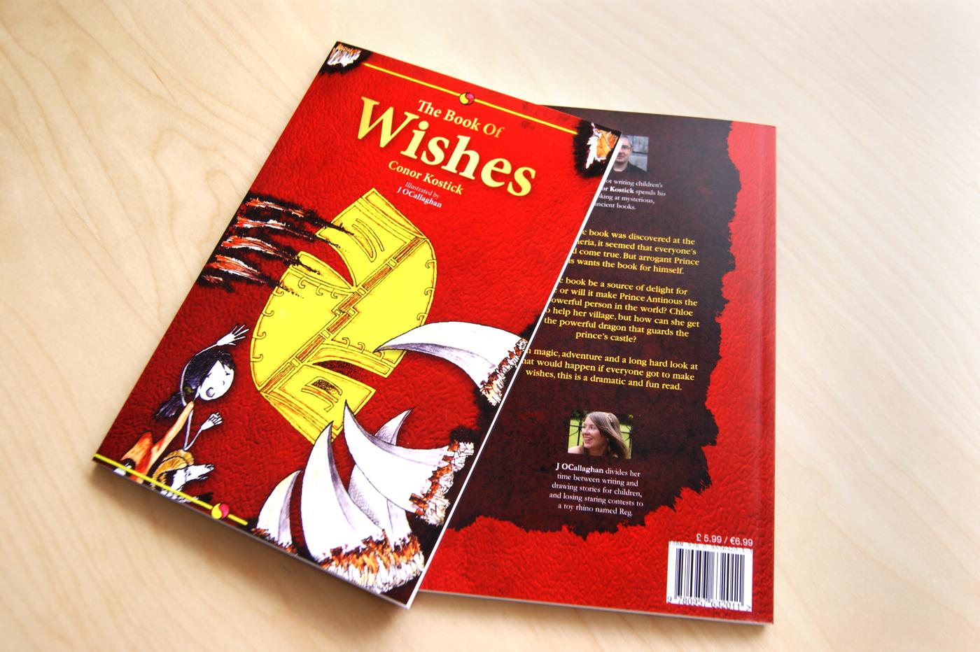 Book of Curses and Book of Wishes de Conor Kostick, Diseño de portadas y maquetación del libro
