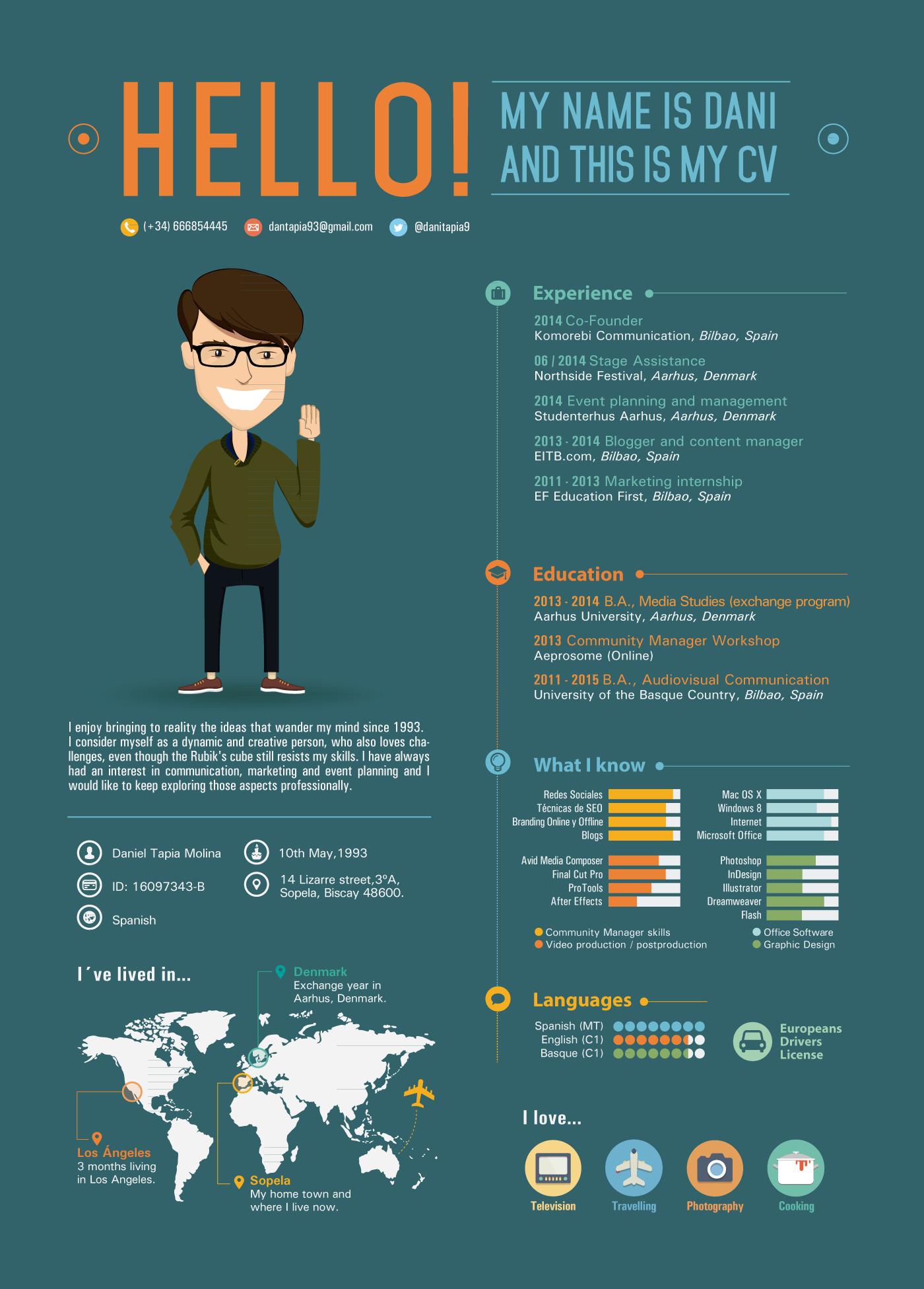 35 Mejores Imagenes De Cv Creativos Resume Design Creative Resume