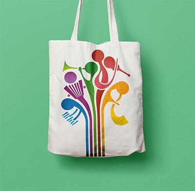 EMUsik 2016, diseño de logotipo, identidad, cartel, bolsa y camiseta presentadas para el evento que organizará Donostia San Sebastián.